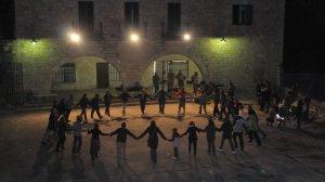 Ball folk per la castanyada del QRambla de Girona, el 15 de novembre de 2008