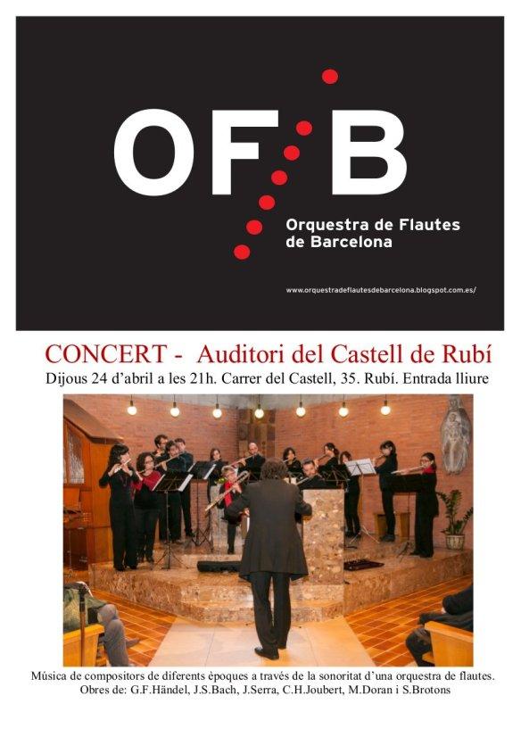 Cartell concert Rubi