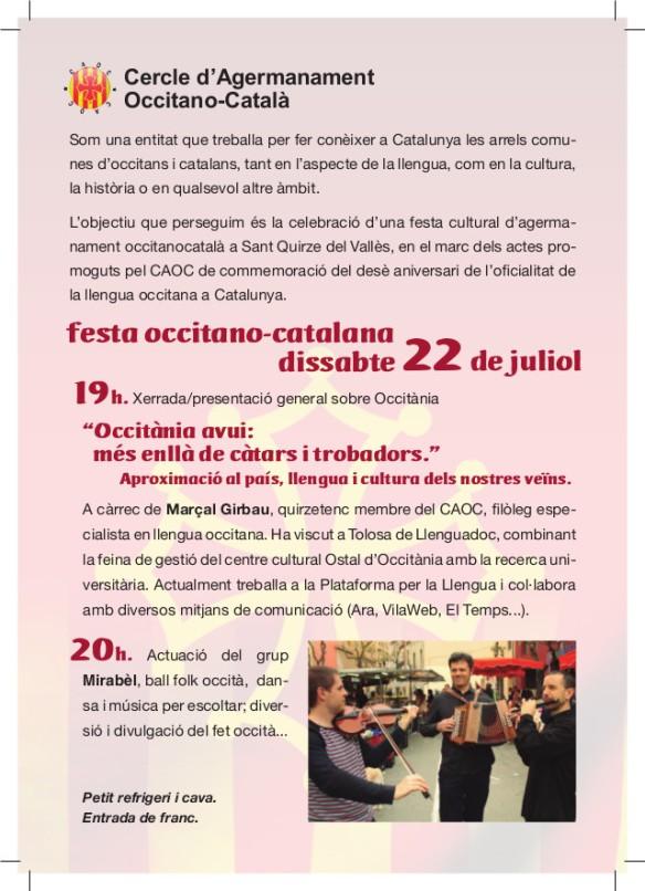 Festa Occitano Catalana St Quirze del Vallès 22-04-17-2